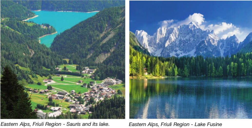 Eastern Alps, Friuli Region - Sauris and its lake. Eastern Alps, Friuli Region - Lake Fusine