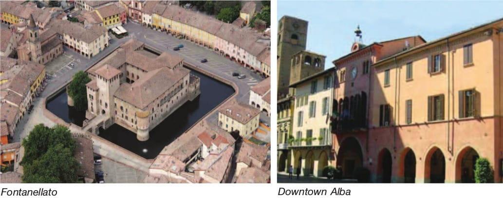 Fontanellato and Downtown Alba