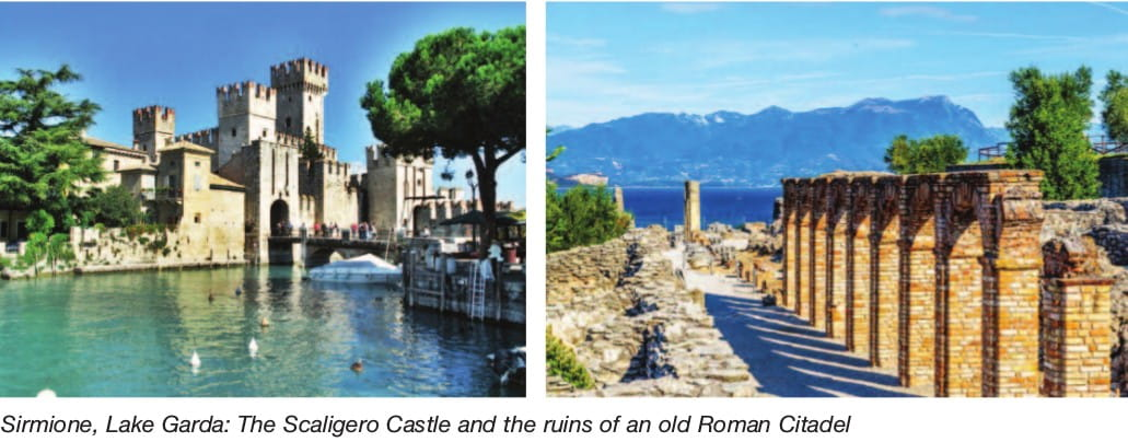 Sirmione, Lake Garda: The Scaligero Castle and the ruins of an old Roman Citadel