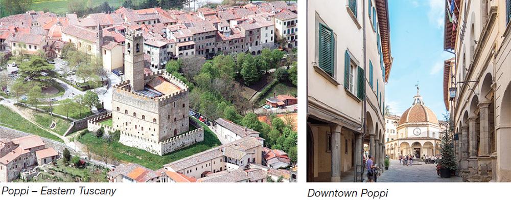 Poppi - Eastern Tuscany & Downtown Poppi