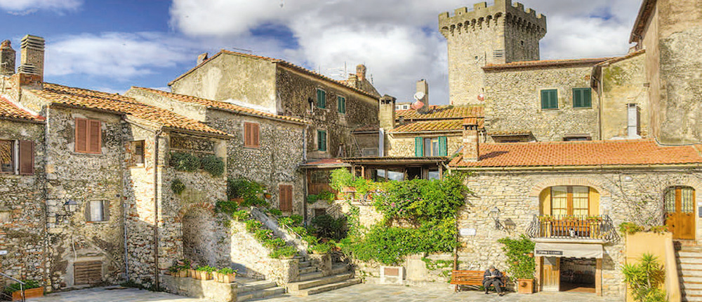 Tuscan architecture in Capalbio