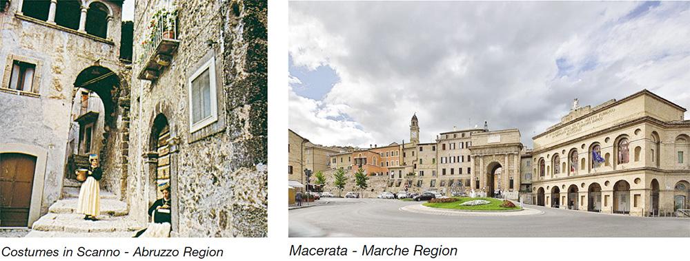 Costumes in Scanno - Abruzzo Region & Macerata - Marche Region