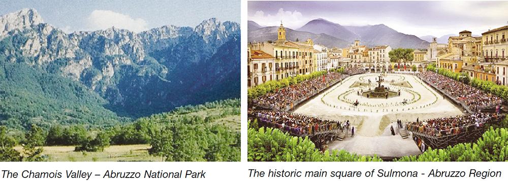 The Chamois Valley - Abruzzo National Park & The historic main square of Sulmona - Abruzzo Region