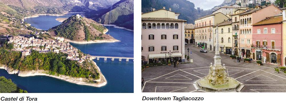 Castel di Tora & Downtown Tagliacozzo