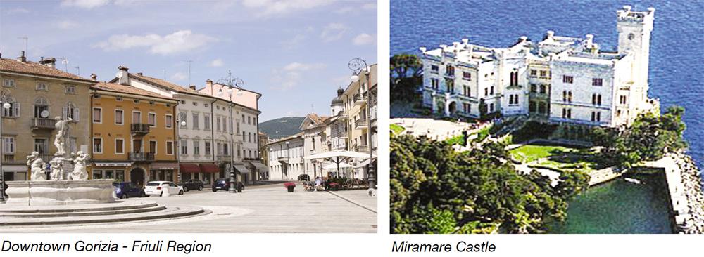 Downtown Gorizia - Friuli Region & Miramare Castle