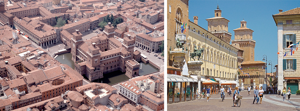 """Ferrara is a UNESCO world heritage city which boasts a """"no-car"""" central district"""