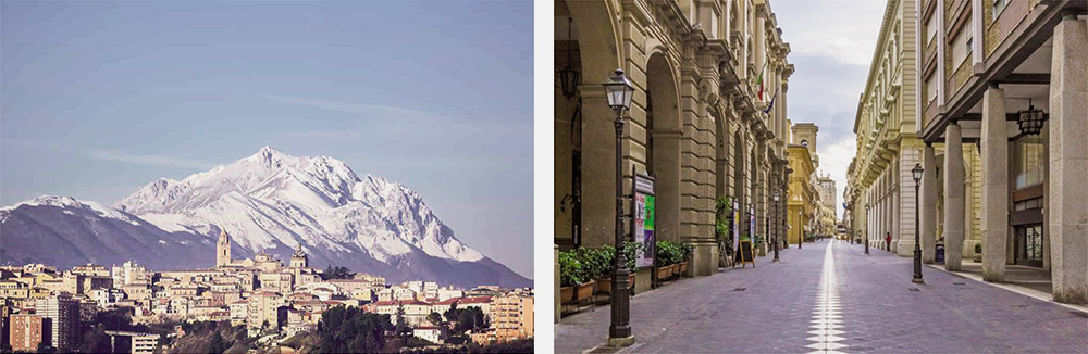 Abruzzo Region – The historic city of Chieti and its pedestrian mall