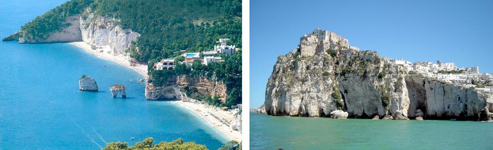 Gargano Promontory (Puglia Region) – Typical coastline and town of Peschici