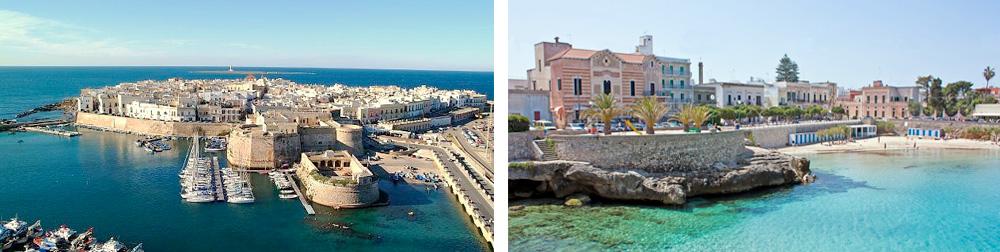 Puglia Region - The fortress town of Gallipoli and the resort of Santa Maria al Bagno