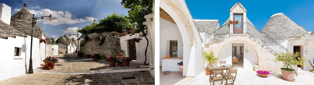 Puglia Region - Traditional Trulli architecture at Alberobello