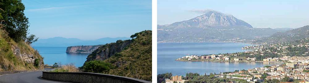Calabria Region - A winding scenic road leads to Sapri