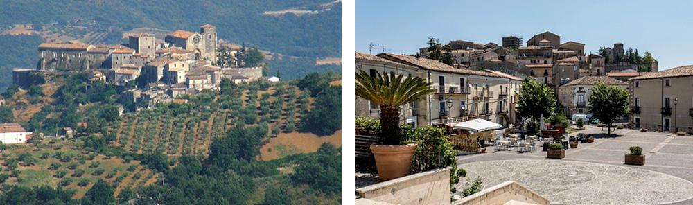 Calabria Region - The historic mountain village of Altomonte and its main square