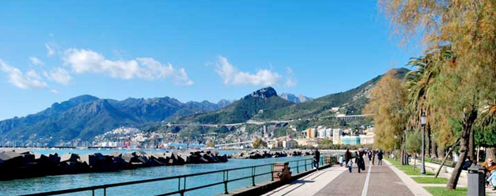 Campania Region - Seaside promenade of the city of Salerno