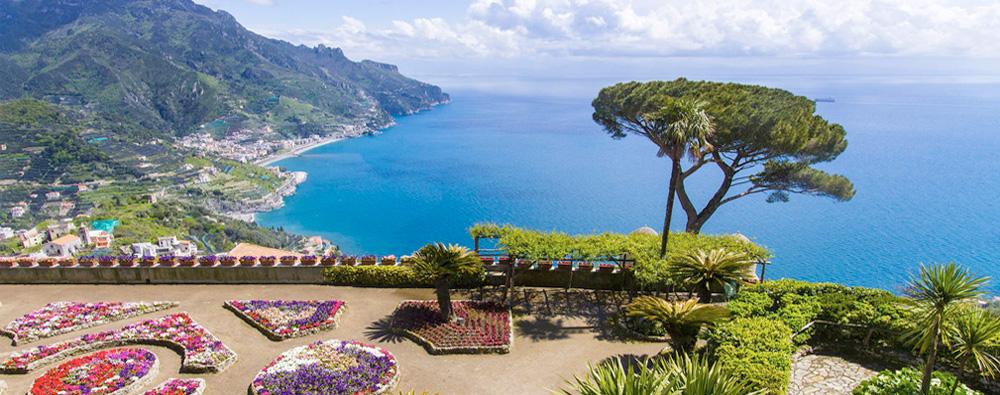 Ravello - The Amalfi Coast as seen from the gardens of Villa Rufolo