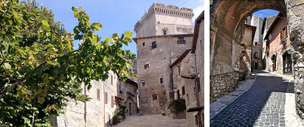 Charming alleys of the historic picturesque town of Sermoneta