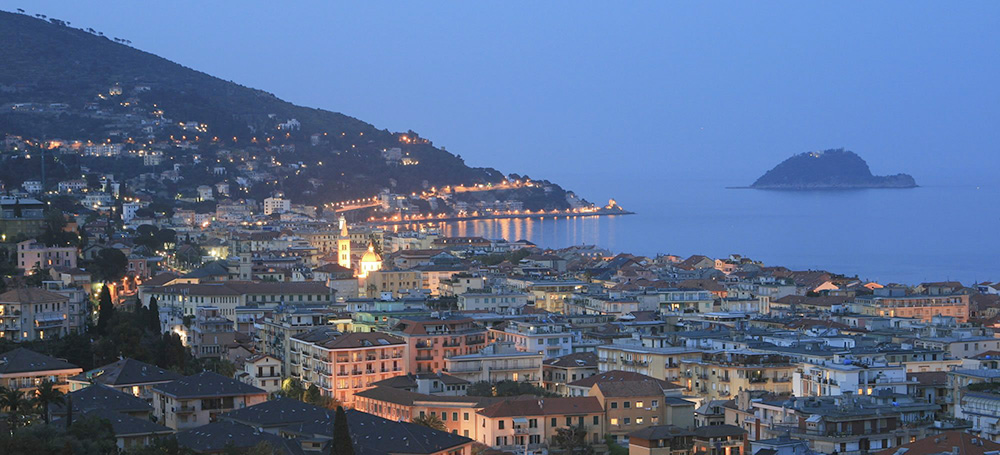 Alassio is a famous major resort on the shore of the Western Riviera