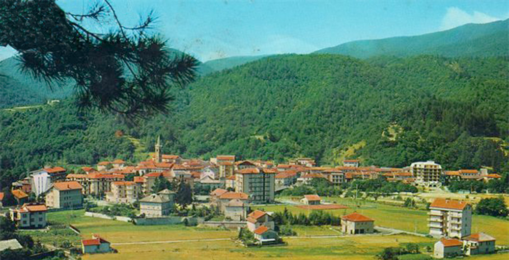 The village of Calizzano is set amongst the green lush mountains flanking the Riviera