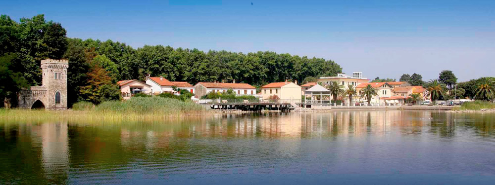 Torre del Lago Puccini is a picturesque village on the banks of a small lake.