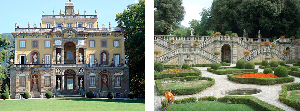 The outstanding Tuscan Villa Torrigiani and a part of its gardens