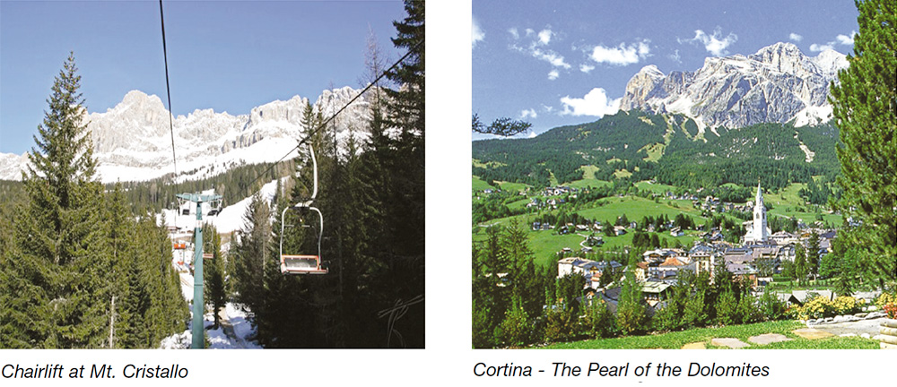 Chairlift at Mt. Cristallo & Cortina - The Pearl of the Dolomites