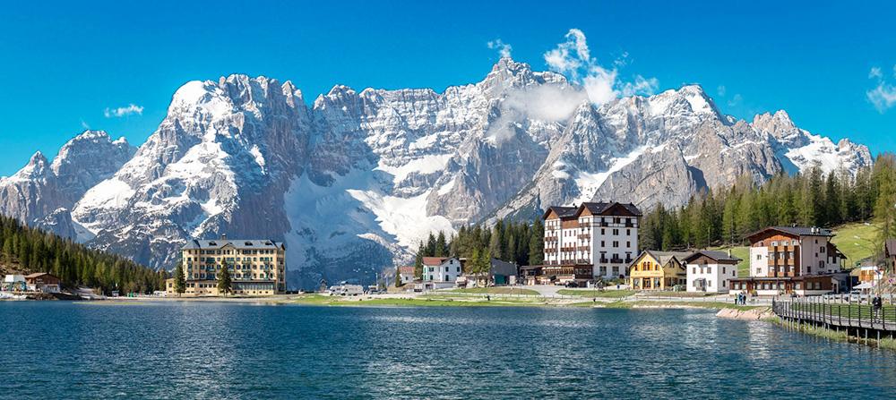Dolomites – Lake Misurina is set at 1,800 m above sea level