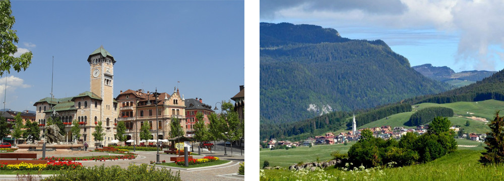 Veneto Region – The Alpine town of Asiago and the village of Camporovere.