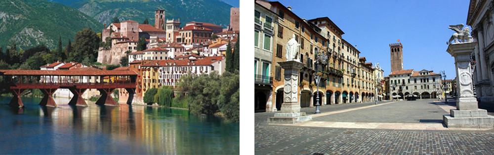 Bassano del Grappa – Its main square closely shows a Venetian influence.