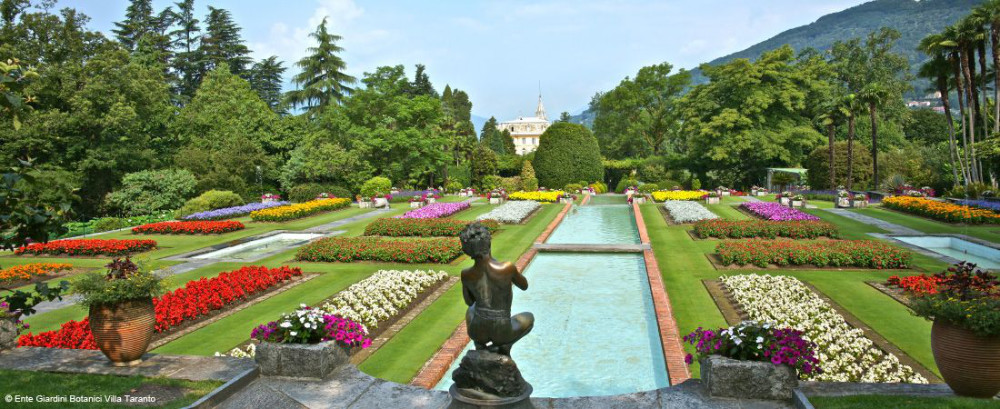 The botanical gardens of Villa Taranto are the most extensive in Italy.