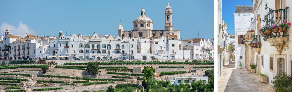 Puglia Region – The town of Locorotondo boasts a very pristine traditional architecture