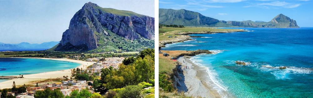 The resort of San Vito Lo Capo and its coastline