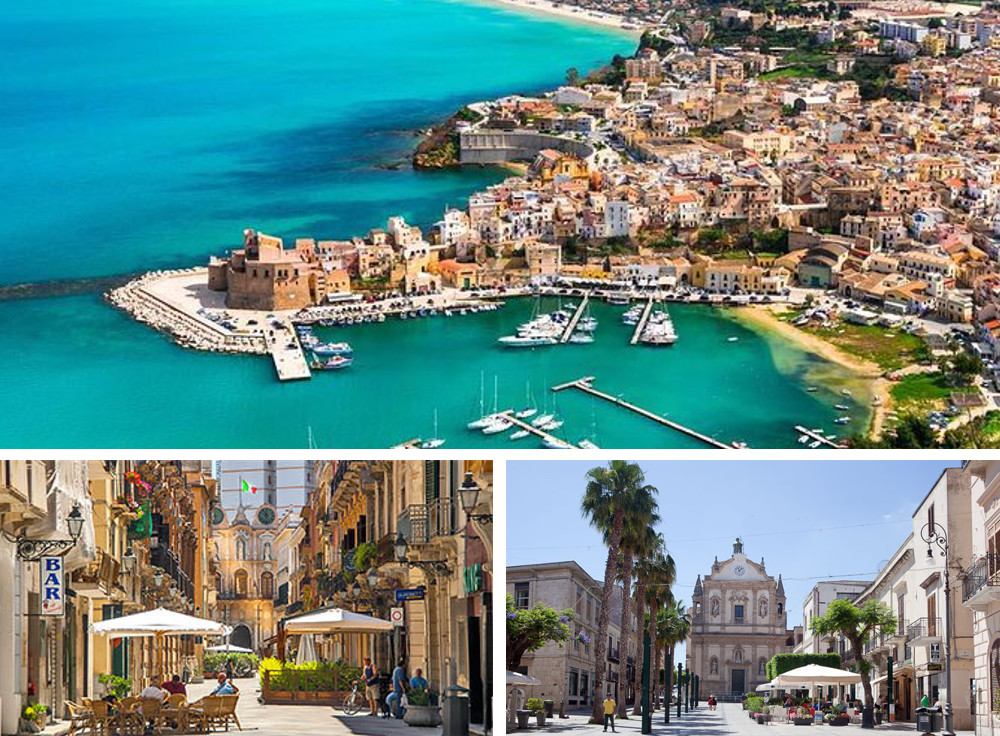 Images of Trapani, the main city on the west coast of Sicily