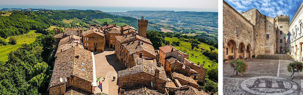 Marche Region - Images of the historic village of Moresco