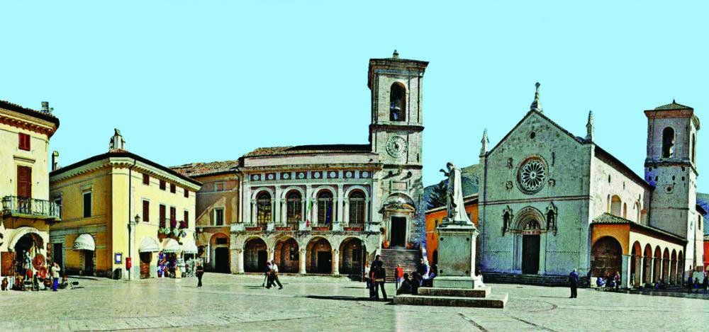 Umbria Region - The picturesque main square of Norcia