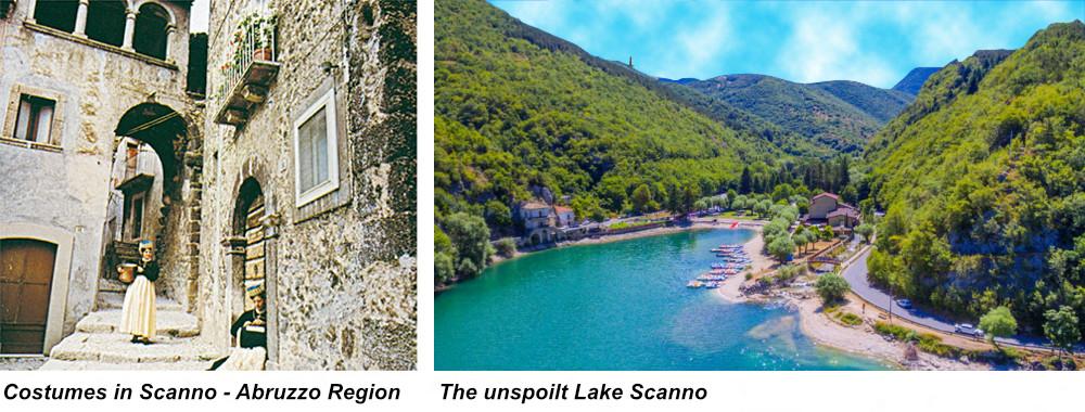 Abruzzo Region - Costumes in Scanno & The unspoilt Lake Scanno