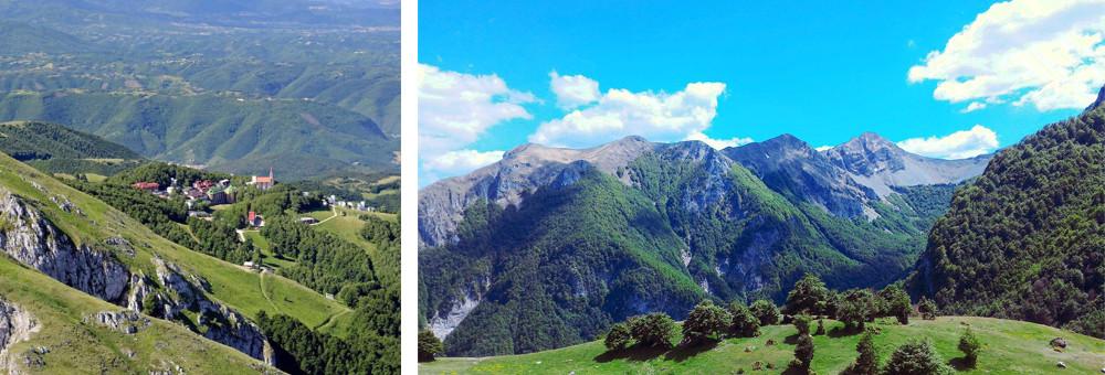 The resort of Pian de Valli (at 1,600m) boasts beautiful scenic views of the surrounding peaks