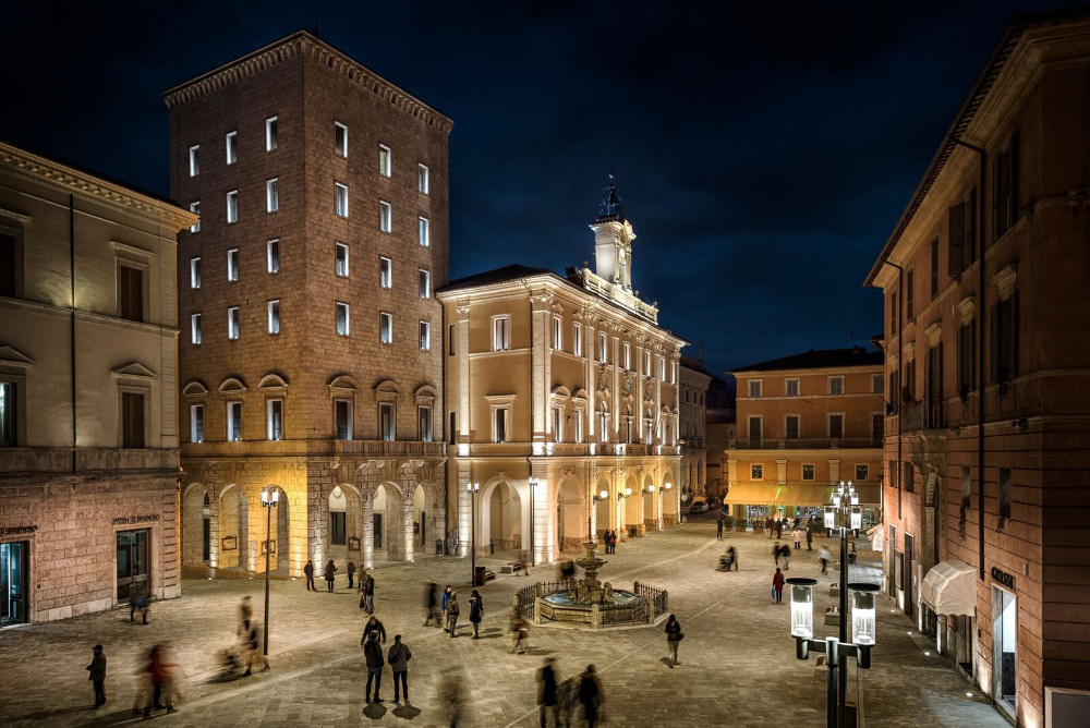 Lazio Region - Rieti's main square as seen from our 4 star hotel