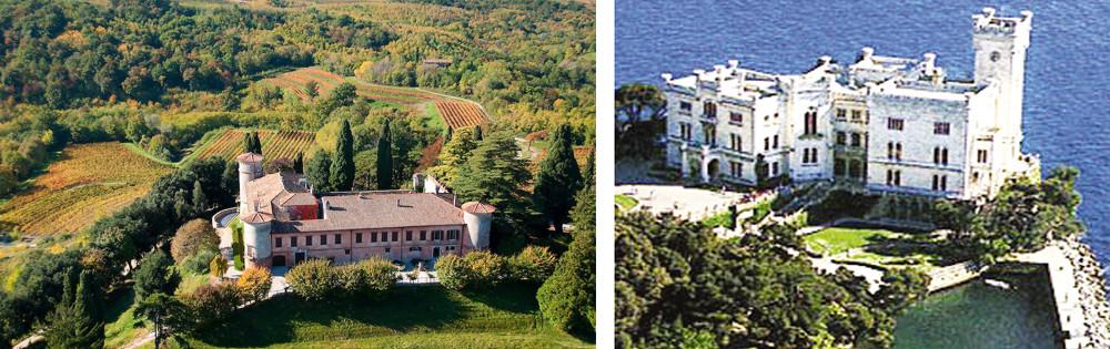 The Alps & Highlights 2022 - Rocca Bernarda in the wine district of the Friuli Region and Miramare Castle